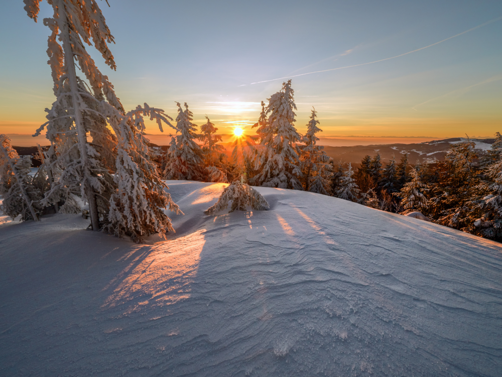 Sunrise in winter.
