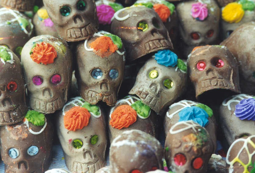 We enjoy calaveras de azúcar (candy skulls) and other sweet treats that are traditional at this time of year.