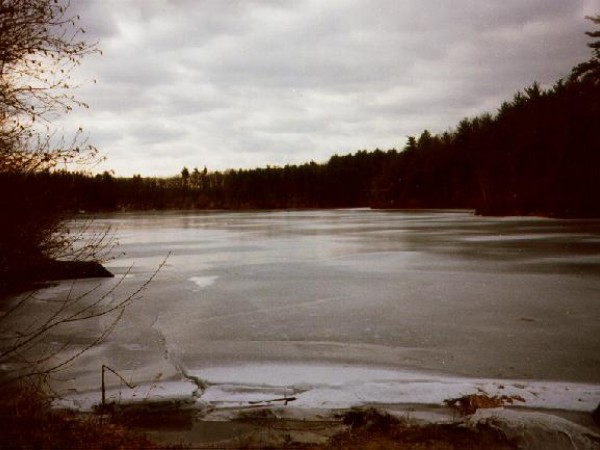 Ice-out on Walden Pond