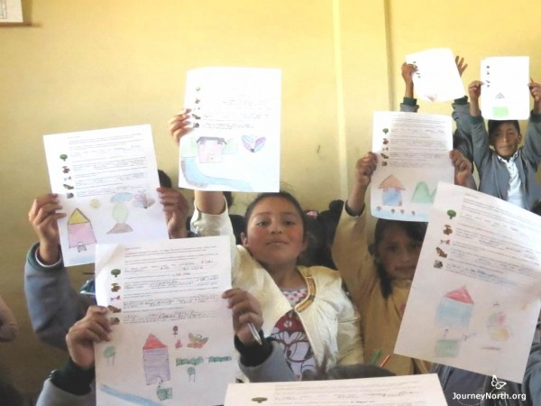 Students in schools near Mexican monarch sanctuaries with letters for their new friends in the US and Canada.