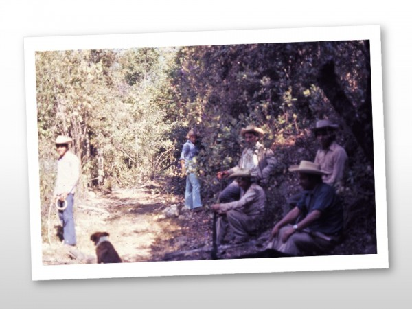 Forest Rangers on Cerro Pelon in March 1977